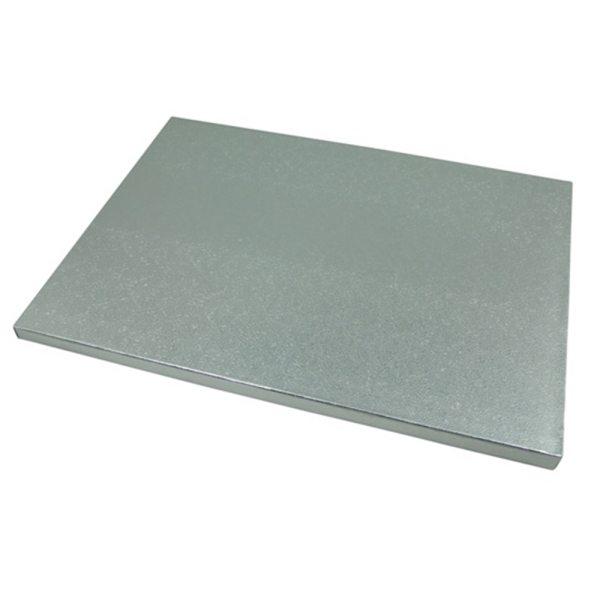 Tortenplatte silber rechteckig 34 x 24 cm / 5 Stück