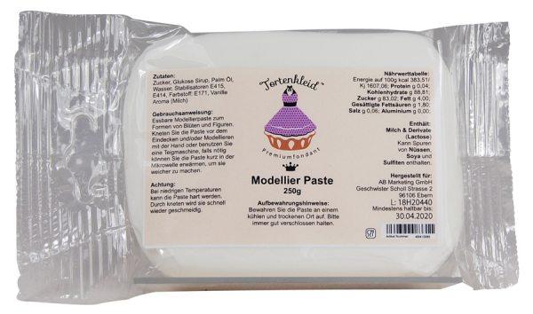 Tortenkleid Modellier Paste weiß 250g
