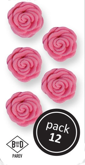 PME Amorrosen aus Zucker  ca 1,5 cm - Pink - 12 Stück
