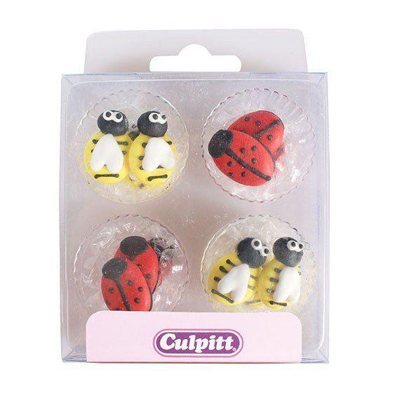Culpitt Zucker Dekoration Biene & Käfer 12 Stück