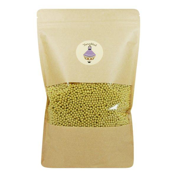 Zuckerperlen 4mm Gold 500g