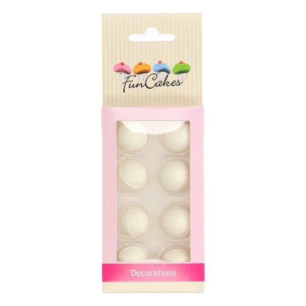 Funcakes Schokokugeln Pearl Weiß 8 Stück