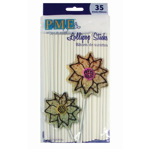 PME Lollipop Sticks 16 cm / 35 Stück