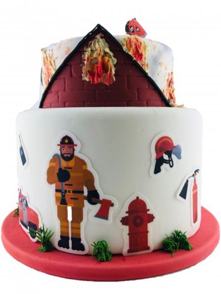 Tortenaufleger Kuchen Tattoo Feuerwehr 1