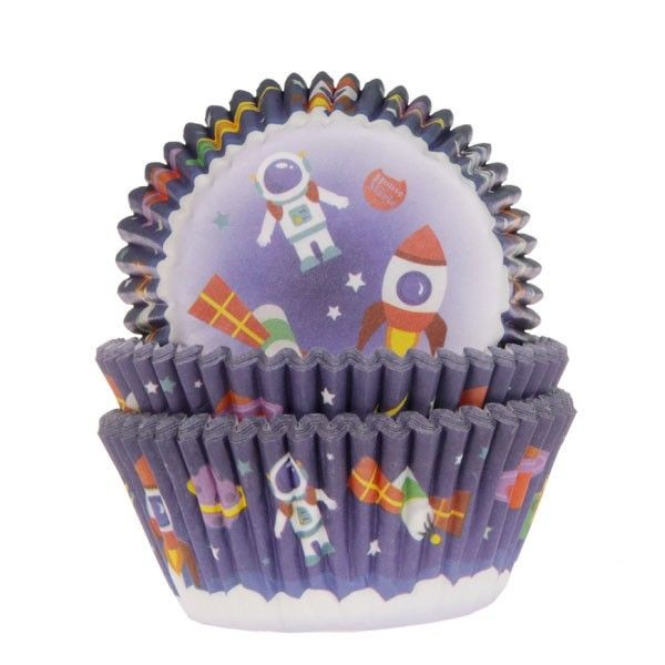 House of Marie Baking Cups Astronaut 50/Pkg