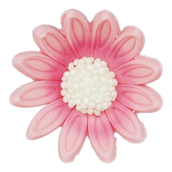 Zucker Dekoration Blüten pink 6 Stück