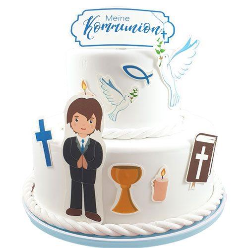 Tortenaufleger Kuchen Tattoo Kommunion Junge