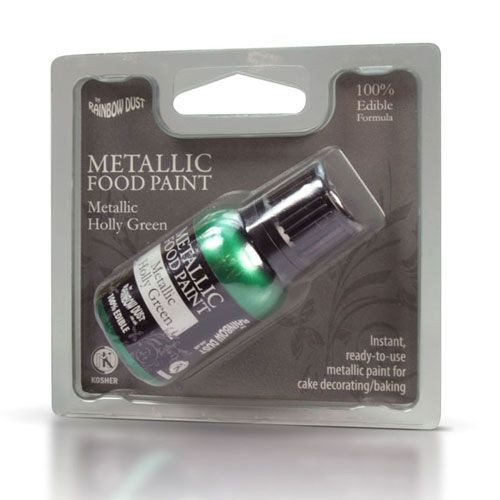 RD Metallic Food Paint Holly Green 25ml