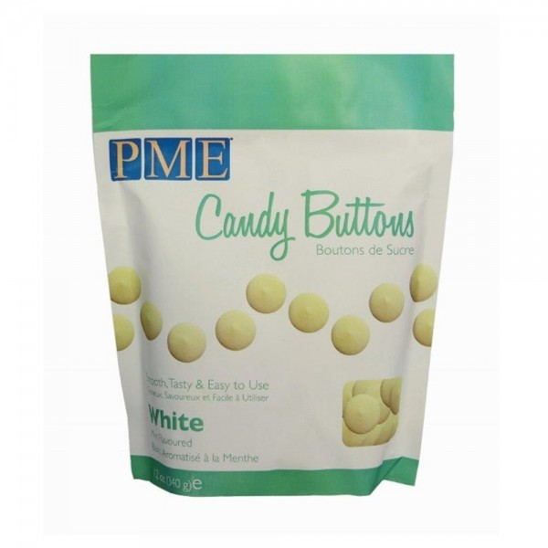 PME Candy Buttons Weiß 340g