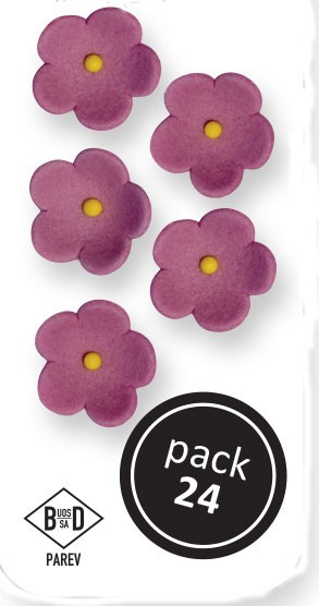 PME Blüten aus Zucker  ca 1,5 cm - Lila - 24 Stück