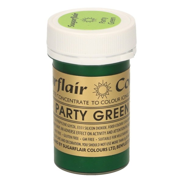 Sugarflair Paste Colour PARTY GREEN, 25gr.