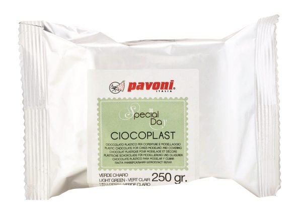 Modellier Schokolade 250 gramm hellgrün