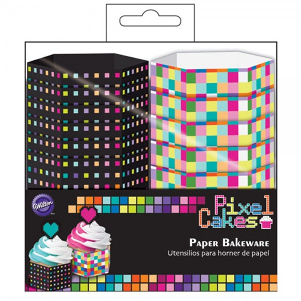 Wilton Hexagon Baking Cups Pixel Pkg/12