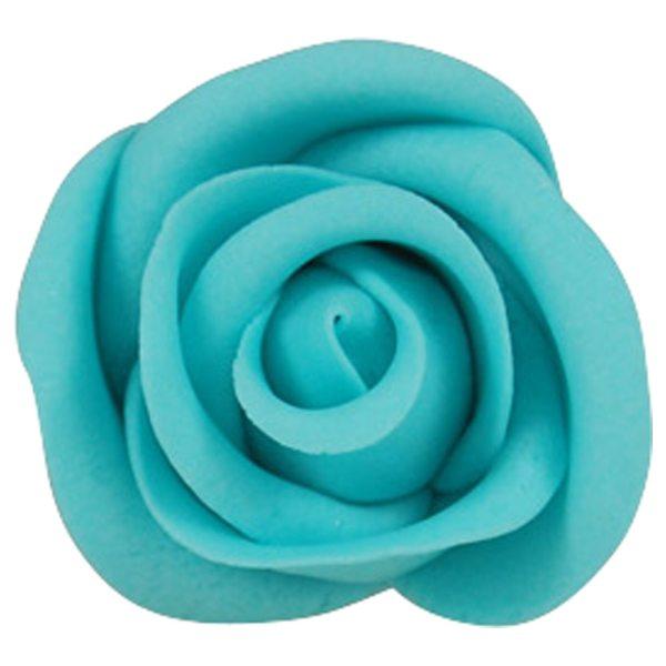 Zuckerrosen Blau groß 12 Stück 50mm