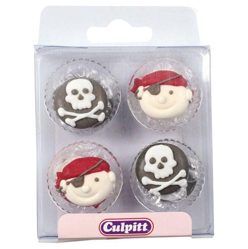 Culpitt Zucker Dekoration Piraten 12 Stück