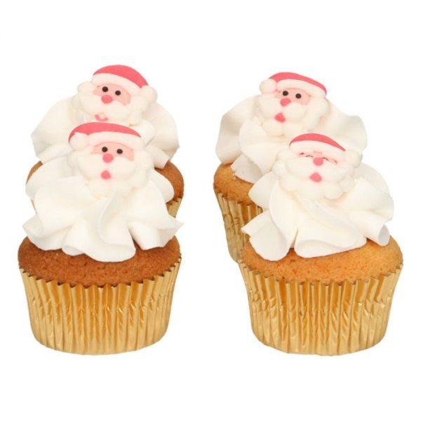 Funcakes Zucker Dekoration Weihnachtsmann 8 Stück
