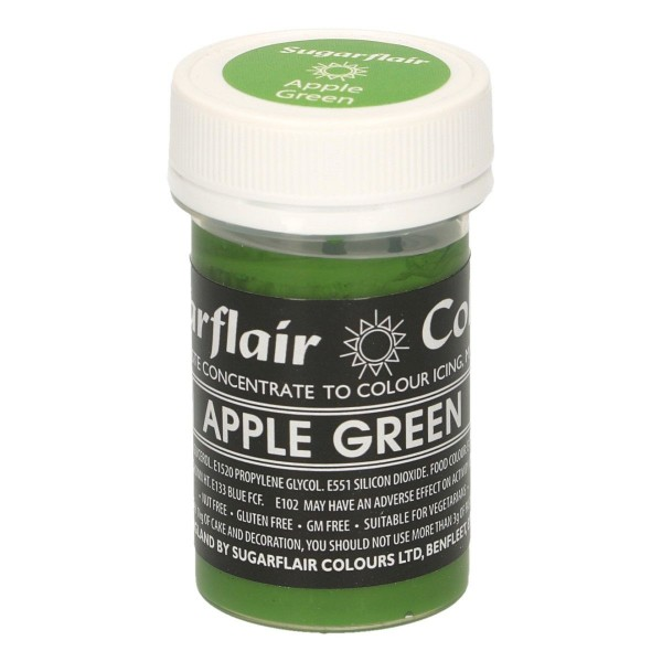 Sugarflair Pastel Colour Apple Green, 25g
