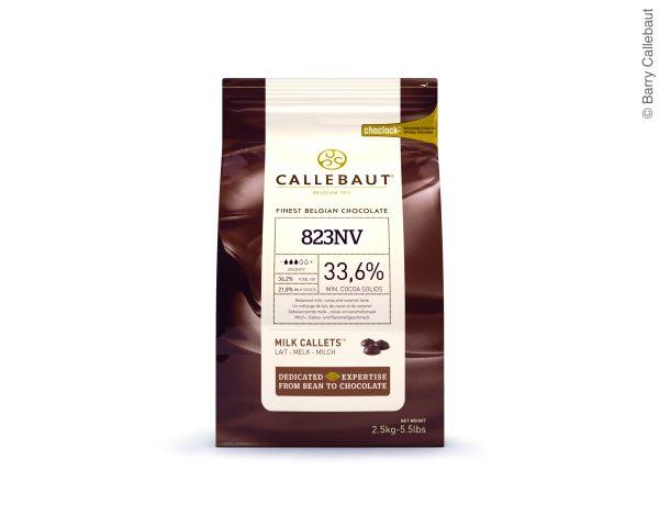 Callebaut Vollmilch Schokoladenkuvertüre  2,5kg im wiederverschließbaren Beutel