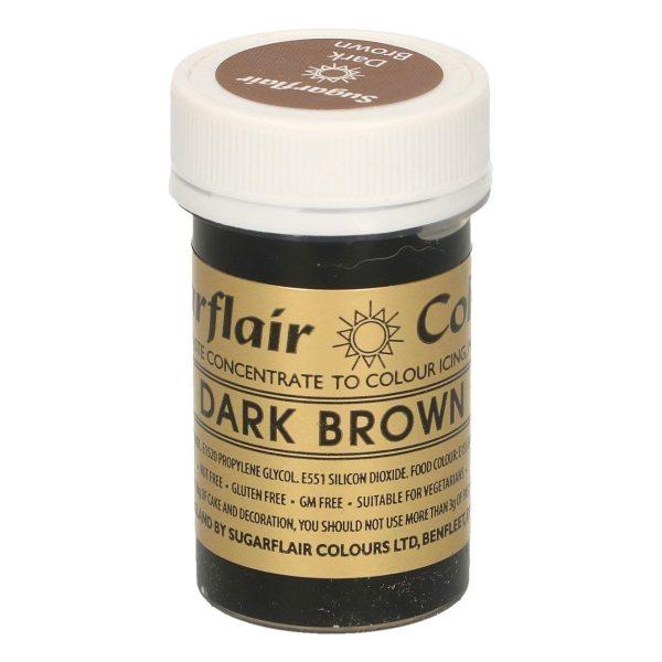 Sugarflair Paste Colour DARK BROWN, 25g