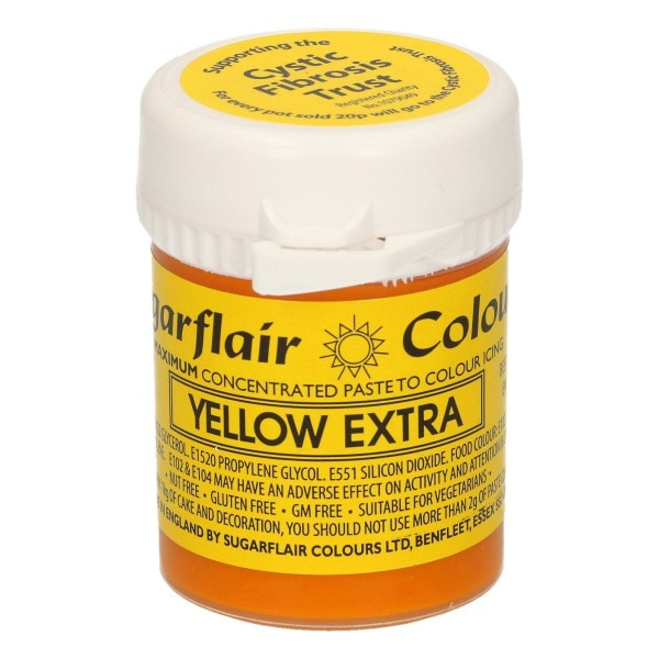 Sugarflair Paste Colour Yellow Extra, 42g