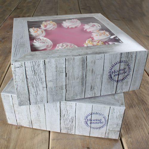Funcakes Cake Box Pure 21 x 21 x 9cm / 2 Stück