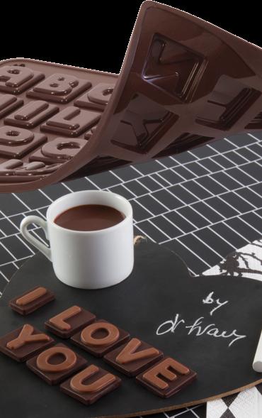 Pavoni Silikonform Schokoladen ABC