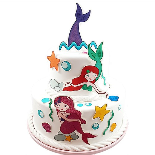 Tortenaufleger Kuchen Tattoo Meerjungfrau