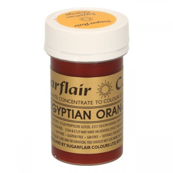 Sugarflair Paste Colour Egyptian orange, 25 Gramm