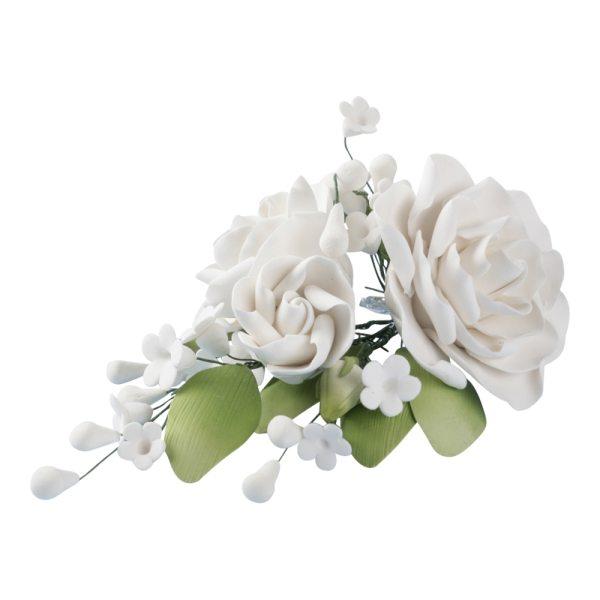 Rosen Bouquet weiß