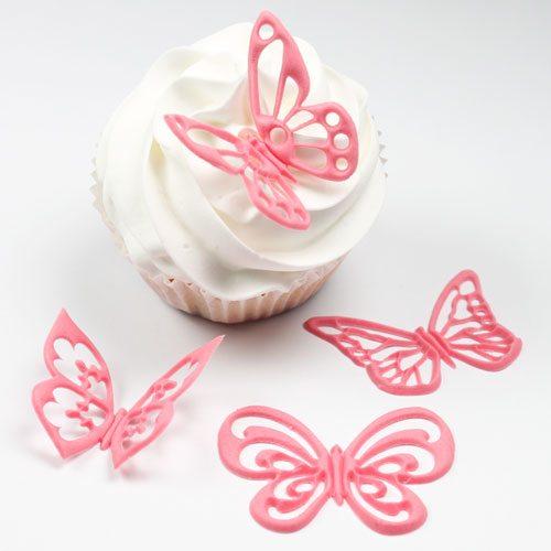 Jem Fantasy Schmetterlinge als Topper für Cupcakes