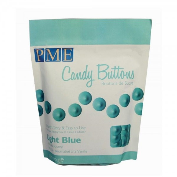 PME Candy Buttons Hellblau 340g