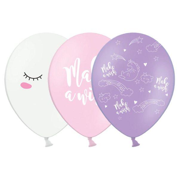 PartyDeco Ballons Einhorn Mix 6 Stück