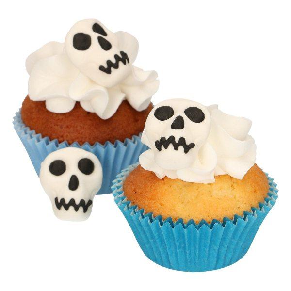 Funcakes Zucker Dekoration Halloween Totenköpfe 8 Stück