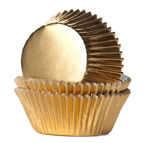 House of Marie Baking Cups Gold 24/Pkg