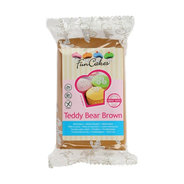 FunCakes Fondant - Teddy Bear Brown -250g-