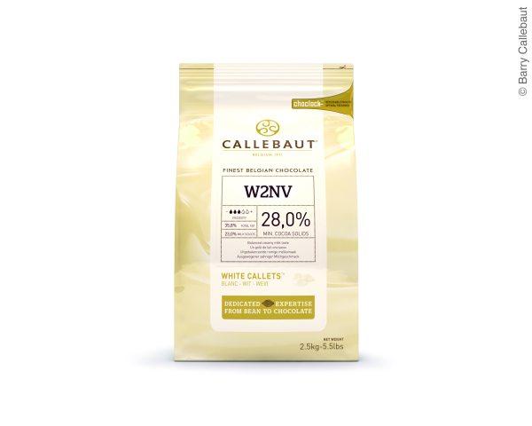 Callebaut Weiße Schokoladenkuvertüre  2,5kg im wiederverschließbaren Beutel / W2-E4-U71