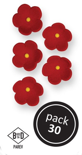 PME Zuckerblumen Blüten ca 1,5 cm - Rot - 30 Stück