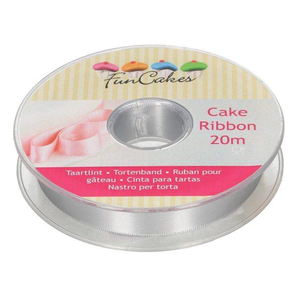 Funcakes Tortenband silber 15mm x 20m