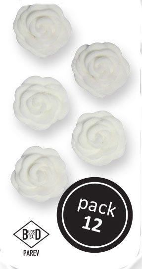 PME Amor Rosen aus Zucker  ca 1,5 cm - Weiß - 12 Stück