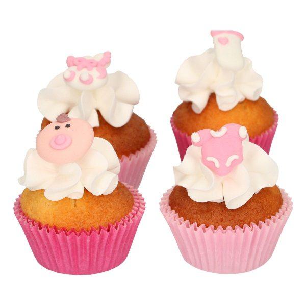 Funcakes Zucker Dekoration Baby Mädchen 8 Stück