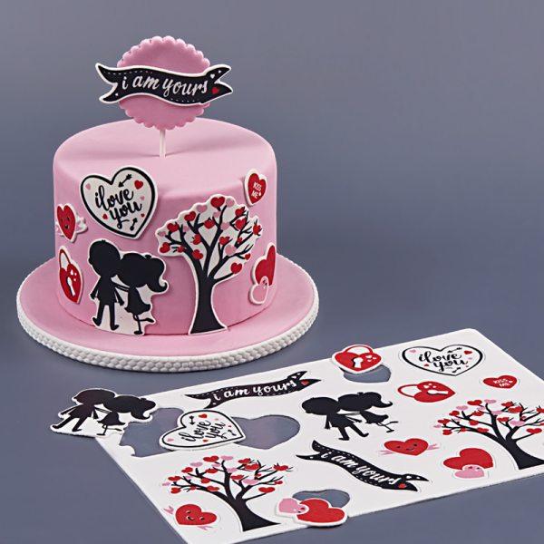 Tortenaufleger Kuchen Tattoo Liebe