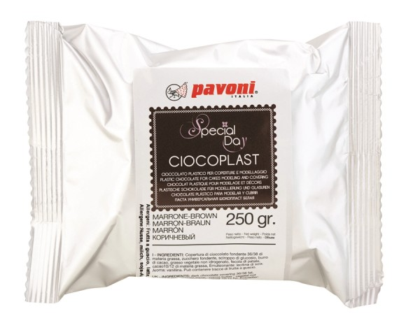 Modellier Schokolade 250 gramm braun