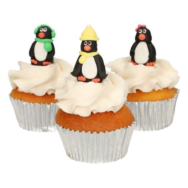 Funcakes Zucker Dekoration 3D Pinguin Set 3 Stück