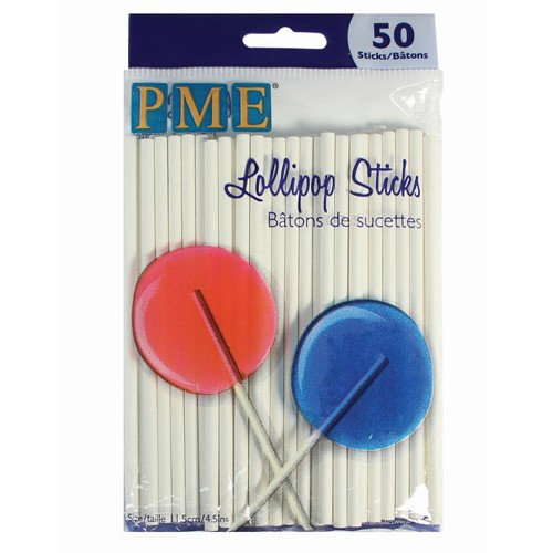 PME Lollipop Sticks 11,5 cm / 50 Stück