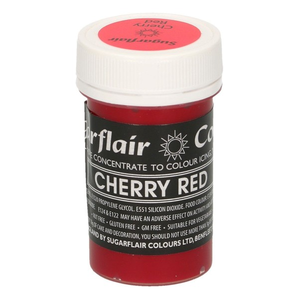 Sugarflair Pastel Colour Cherry Red 25g