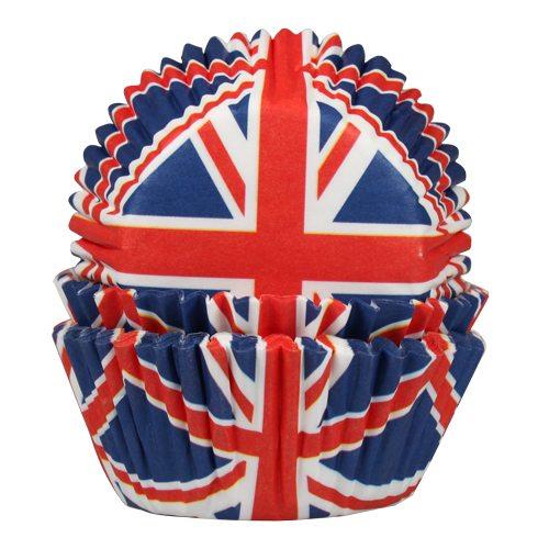 HOM Papier- Muffinbackform Großbritannien Flagge 50 Stück