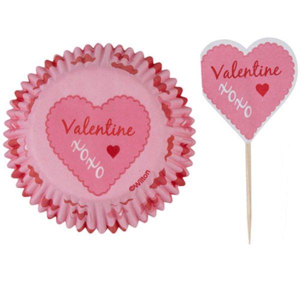 Wilton Cupcake Valentines Backförmchen 25Stk.