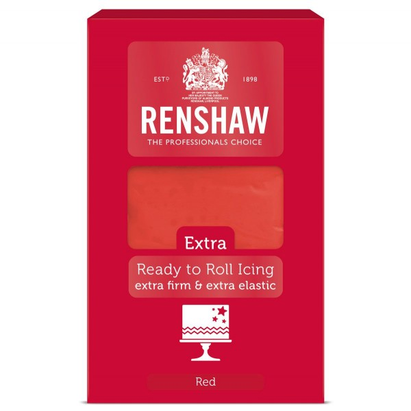 Renshaw Rolled Fondant Extra 1kg - Rot -