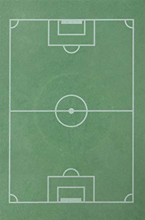 Fussball-Spielfeld 30x20cm Oblatenpapier