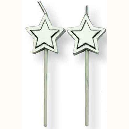 PME Kerzen Silver Stars 8/Pkg